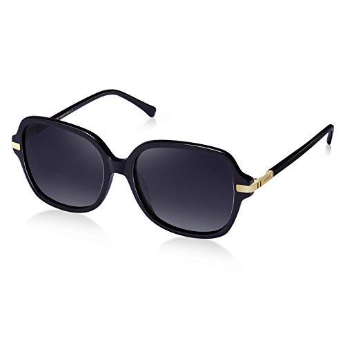 Acetat Rahmen AVAWAY Retro Polarisierte Sonnenbrille Damen UV400 Fahrenbrille