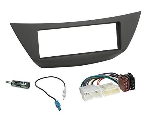Sound-way 1 DIN Radiopaneel Frame Autoradio, Antenne Adapter, ISO Aansluitkabel, ondersteuning voor Renault Laguna 2007-2015
