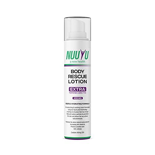 Nuuyu - Body Rescue Lotion con Aceite de CBD - Crema de Masaje Corporal - Presentación 100 ml - Aceite de Cáñamo Orgánico - No Contiene THC - Relaja e Hidrata - Cosmética Natural