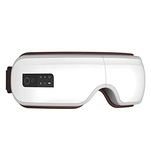 Elektro-AugeMassager, schnurlose Funk-AugeMassager mit Hitze Kompression, Luftdruck, Bluetooth Musik und Kindermodus und 6 Arbeitsmodi für Augen Futigue Dry