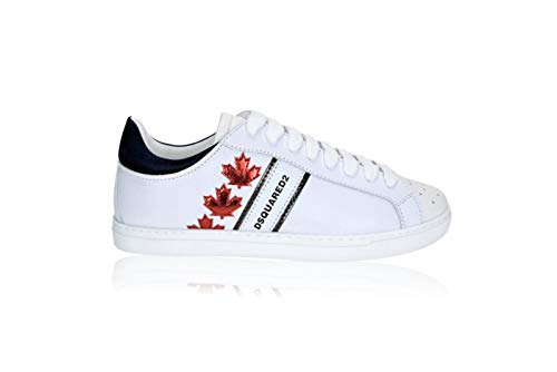 DSQUARED2 Canadian Team M1747 - Zapatillas para Hombre Blanco Size: 40 EU