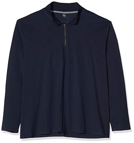 Preisvergleich Produktbild s.Oliver Big Size Herren 15.910.31.6935 Langarmshirt,  Blau (Fresh Ink 5952)