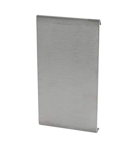 Fuchs Design Terrassenprofil Verbinder Edelstahl (V2A) 55/13 mm Höhe Silber - Terrassenblende Terrassenleiste Kantenabdeckung für die Terrasse