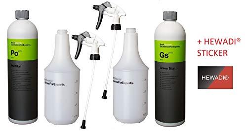 SET Koch Chemie Pol Star GREEN STAR 2x Sprühkopf 2x Zylinderflaschen