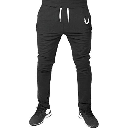 Pantalones Deportivos para Hombre Moda Color sólido Bordado Ocio Al Aire Libre Fitness Correr Streetwear Pantalones cómodos L