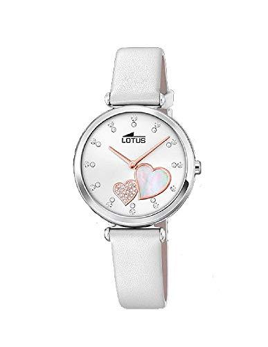 Lotus - Reloj Analógico para Mujer, de Cuarzo con Correa en Cuero