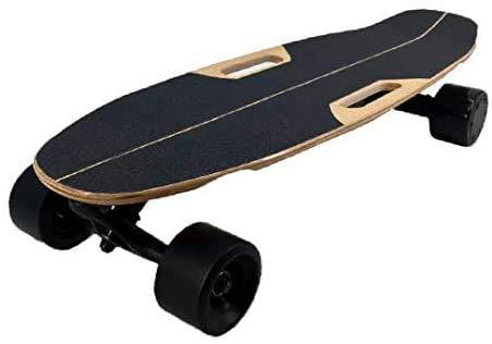 LINANNAN Completo monopatín eléctrico de 31 pulgadas, 8 pistas de arce canadiense cóncava, monopatín, monopatín para principiantes, jóvenes y adultos, rueda Pro 83 milímetros