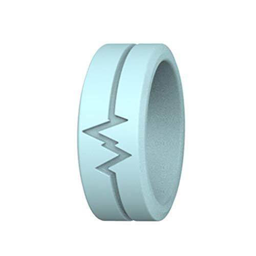 Akemaio Luminous Silikon-Ring für Frauen-Männer Glow In The Dark-Finger-Ring für Outdoor-Survival-Sport und Outdoor Camping