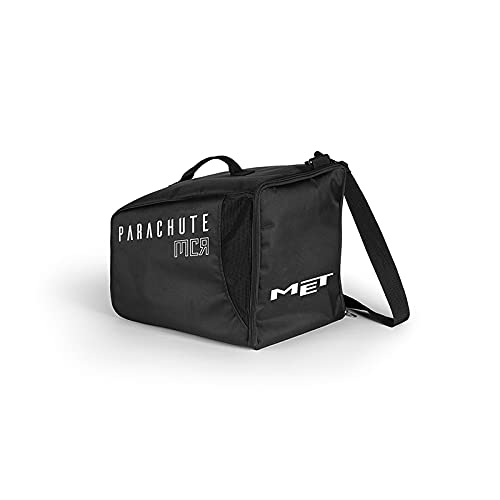 MET Bolsa para Casco Parachute MCR MIPS, Adultos Unisex, Negro (Negro), Talla Única