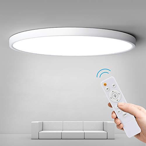 Anten 24W LED Deckenleuchte Dimmbar, Lichtfarbe und Helligkeit einstellbar,Deckenbeleuchtung für Bad Küche Balkon Korridor Büro Esszimmer
