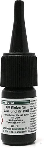 Ber-Fix UV Kleber dünnflüssig - für Glas/Glas Glas/Metall 50-100, 3 g