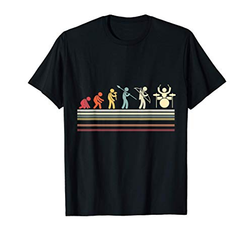 Funny Evolution Drums Drummer Drum - Regalo para bateristas Camiseta