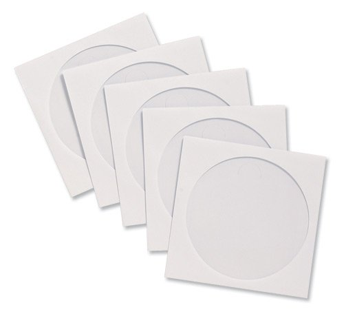 CD/DVD Window Envelopes, 5'x5', 100/PK, White, Sold as 1 Box