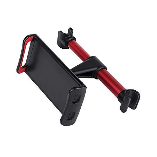 LISRUILY - Soporte para teléfono de coche 3 en 1 con ajuste universal de 360 ° C, dirección de bolas, bloqueo del centro de gravedad para teléfono móvil o tableta, color rojo