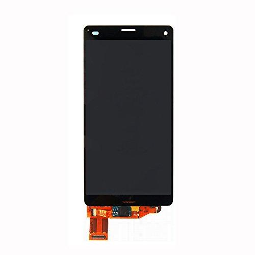 UU FIX Handy-Bildschirm-Ersatz für Sony Xperia Z3 Mini Compact Z3c, Frontglas LCD Display Touchscreen Digitizer Montage (kein Rahmen) mit Werkzeug