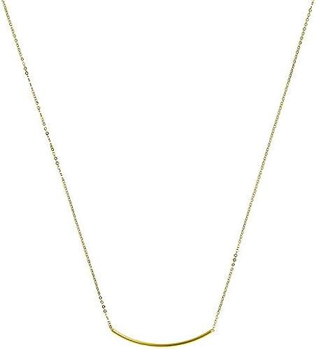 14  GelbGold Swing Bar Hummer Halskette 46cm