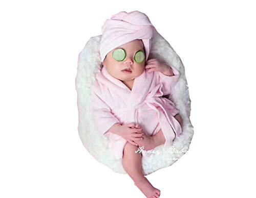 Bata Albornoz con Toalla de Bebé Trajes de Fotografía para recién Nacidos niños niñas Disfraces Ropa para Foto,2 PCS Photography Clothing Props