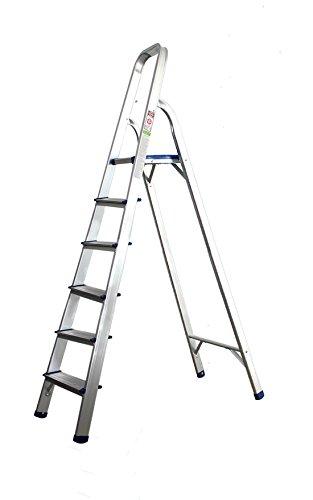 Aluminium ladder huishoudtrap met 5 treden multifunctionele ladder multifunctioneel
