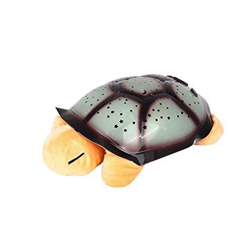 Lampe de Projection Turtle Star Projection Lamp LED à Projection pour Enfant Veilleuse Tortue Plush (5 Couleurs),Yellow