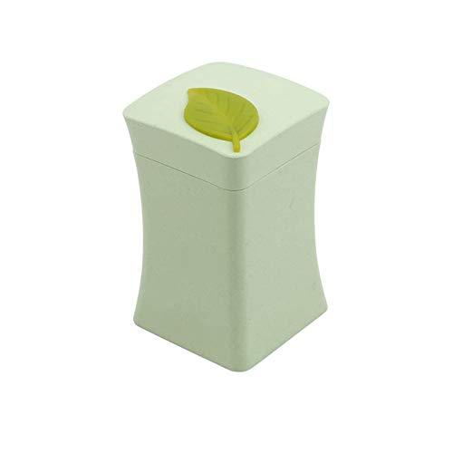 Dispensador de palillos de dientes para utensilios de cocina, cajas de almacenamiento de plástico, color verde
