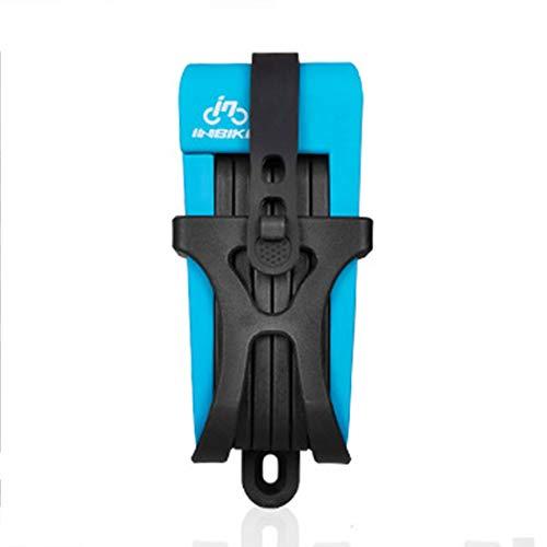 Fahrrad-Diebstahlsicherung Faltbare Anti-Hydraulik-Schere Autoschloss Fahrrad-Diebstahlsicherungsringschloss Verletzt Den Rahmen Nicht Automatische Reparatur (Color : Blue hydraulic shears)