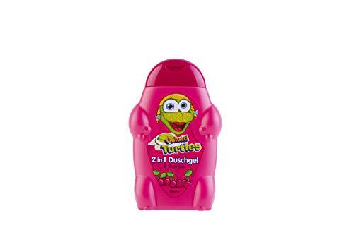 Colutti Turtles Shower & Shampoo 300ml - für Haut und Haar - Kirsche - Kinder Duschgel und Shampoo - pH hautneutrale Pflege für Kinderhaut - Super Dufterlebnis für Kinder - 2 in 1