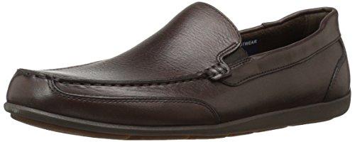 Rockport Men's Bennett Lane 4 Venetian Shoe, brown leather, 10.5 M US