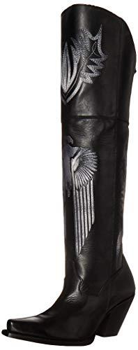Dan Post Womens Black Tatum 20in Thunderbird OTK Fashion Boots Leather 9.5 M