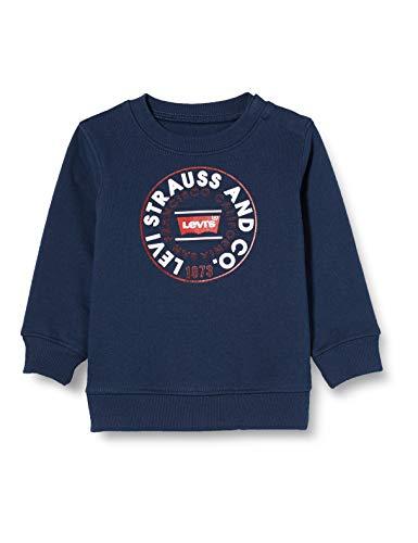 Levi's Kids LvbCrewneckSweatshirt Sudadera Bebé-Niños Dress Blues 9 meses