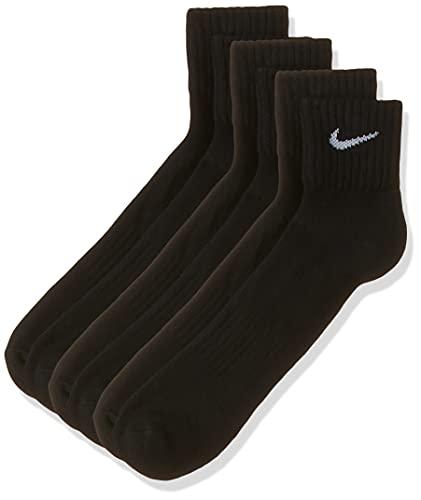 Nike One Quarter Socks 3PPK Value Calcetines para Hombre, Negro (BLACK/WHITE), 42-46