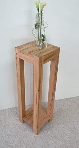Martin Wedding Deco zuil bloemenkruk bijzettafel kernbeuken massief Afmetingen: 32 x 32 x 75 cm hoog. Speciale maten.