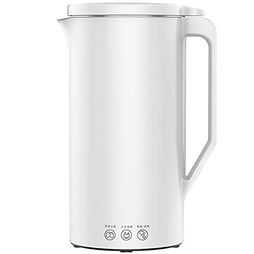 WAYUTO Automatic Soy Milk Maker Soup Maker Stainless Steel Liner Heating Juicer Easy-Clean Superfine Grinding Magnetic Control Cover Soybean Making Machine Foldable for Rice Paste Baby Food 350ml (White)