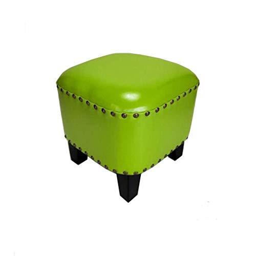 WJXBoos DM Puf Redondo Acolchado con decoración de Remaches Taburete para el hogar Moderno y cómodo (Color: # 16)