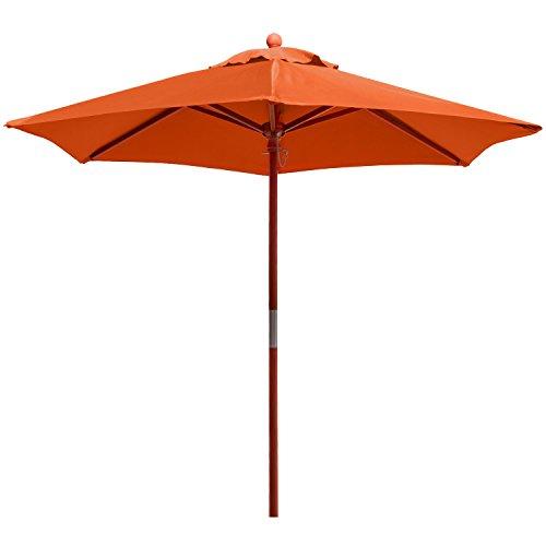 anndora® Sonnenschirm Marktschirm Balkonschirm ø 2,1 m rund - mit Winddach Terracotta