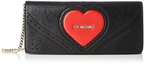 Love Moschino Jc4220pp0a, Bolso de mano. para Mujer, Negro (Black Red), 5.5x14x30 Centimeters (W x H x L)