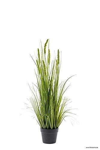 Klocke Kunstpflanzen Hochwertiges Dekogras im Topf - Groß: 90cm - Wunderschön & Naturgetreu - Gras/Grasbüschel/Grasbündel/Kunstgras