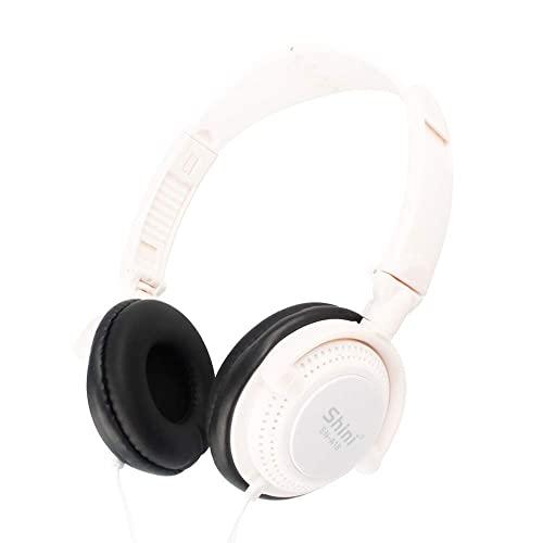 HYMKL Y08 auricolare musica senza fili BT 5.0 TF card lettore MP3 vivavoce con microfono integrato 200mAh batteria ricaricabile (bianco)