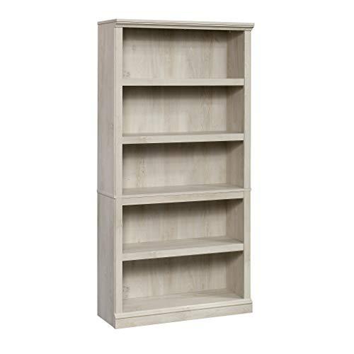 Sauder Select Collection 5-Shelf Bookcase, Chalked Chestnut finish