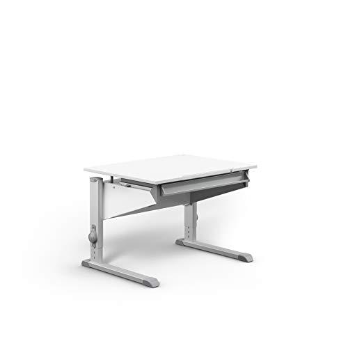 moll höhenverstellbarer Kinderschreibtisch Sprinter Compact, für Jungen und Mädchen, Weiß, Holzwerkstoff