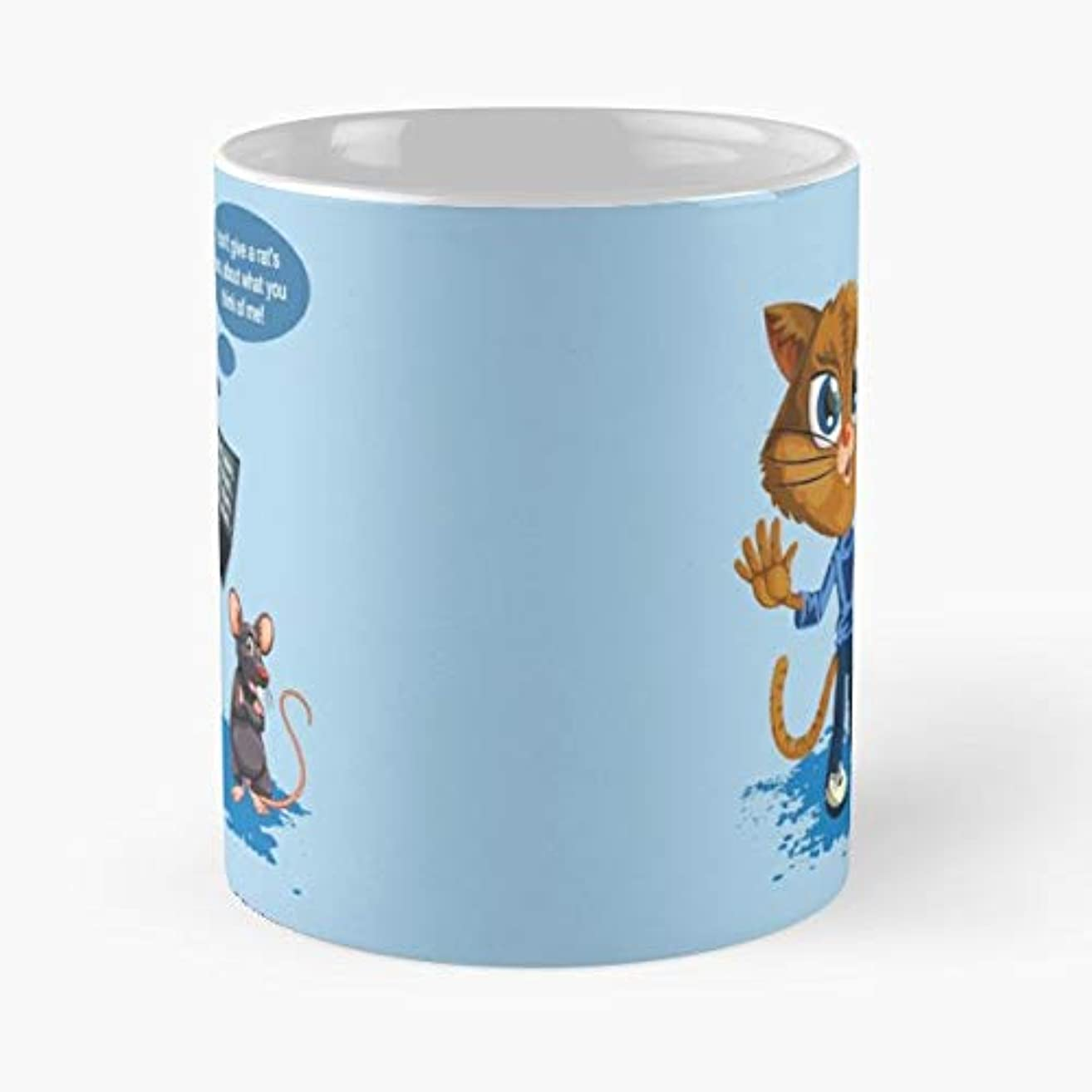 Meh Cat Kitten Feline -funny Gifts For Men And Women Gift Coffee Mug Tea Cup White-11 Oz.