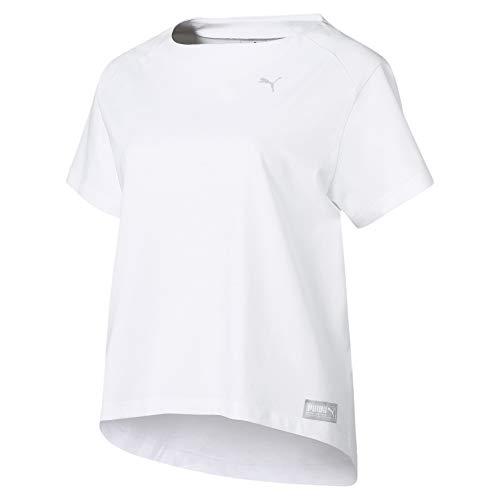 Puma Fusion Tee T Shirt Femme, White, XS