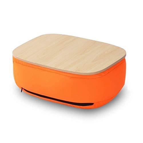 Zachte Pad lade Tafel - Bedkant Mobiele Laptop Bureau Minimalistische Knie Bed Laptop Tafel Draagbare Luie Terug Kussen Slaapbank/Slaapkamer/Balkon/Studeerkamer, ORANJE
