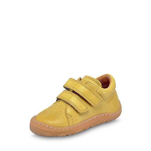 Froddo G2130192 Mädchen Lauflernschuh aus Glattleder herausnehmbare Ledersohle, Groesse 23, gelb