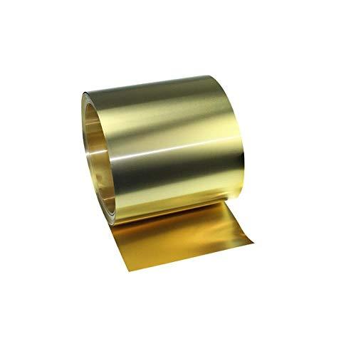 DGPOAD Dicke 0,2 mm Breite 20 mm 1 Meter/Rolle Dünner Bronzestreifen Bronzeplatte Goldfolie Bronzefilm Bronzeplatte Bronzeplatte H62