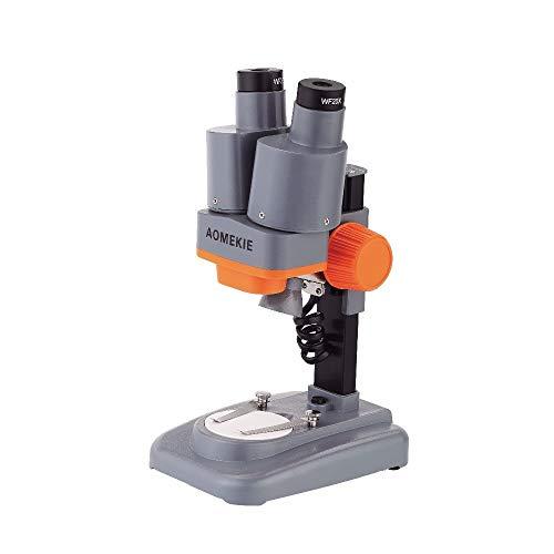 BINGFANG-W 20x 40x Microscopio estéreo con Ocular LED Luz PCB Soldadura Mineral espécimen sildeando teléfono Pepair Herramienta HD Visión Aumento (Color : 20X and 40X)