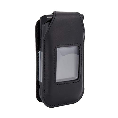 BELTRON Leather Fitted Case for Orbic Journey V Verizon Flip Phone - Features: Rotating Belt Clip, Screen & Keypad Protection, Secure Fit