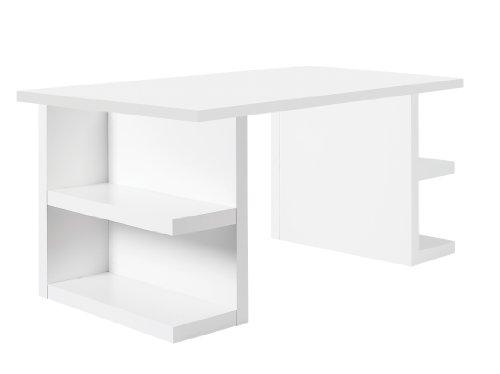 TemaHome Bureau Design Pieds étagères Multi L160cm Blanc