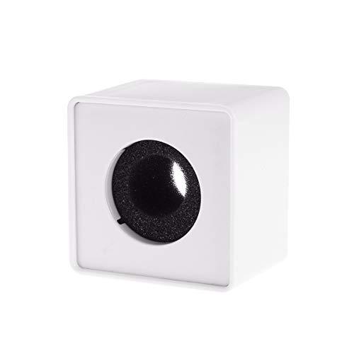 Cubo de ABS para micrófono, de la marca Pixnor, para poner el logo de la empresa, blanco