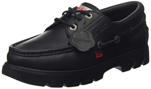 Kickers Lennon Black Leather, Náuticos Unisex Adulto