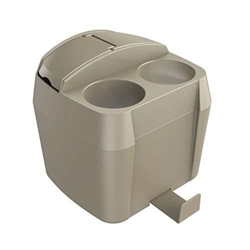Bote de Basura Contenedor de Basura Multifuncional para el Interior de un contenedor de Bebidas Bote de Basura Humano Simple (Color : Brown)